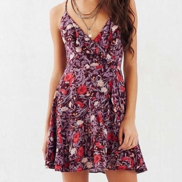 14ad54be003 Kimchi Blue Sabrina Ruffle Wrap Mini Dress